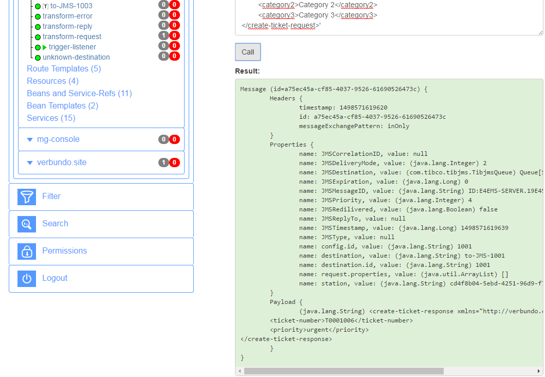 Calling JMS services over HTTP using Flink-ESB Message Gateway